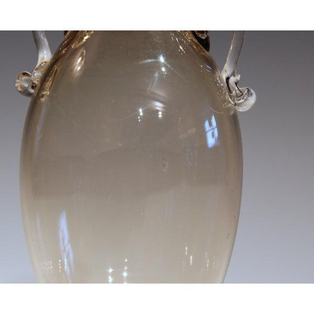 Glass 1920s Vittorio Zecchin for Cappellin & Venini Murano Glass Vase For Sale - Image 7 of 11
