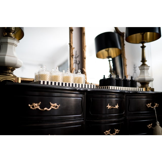 French Black French Dresser with Gold Accents For Sale - Image 3 of 3