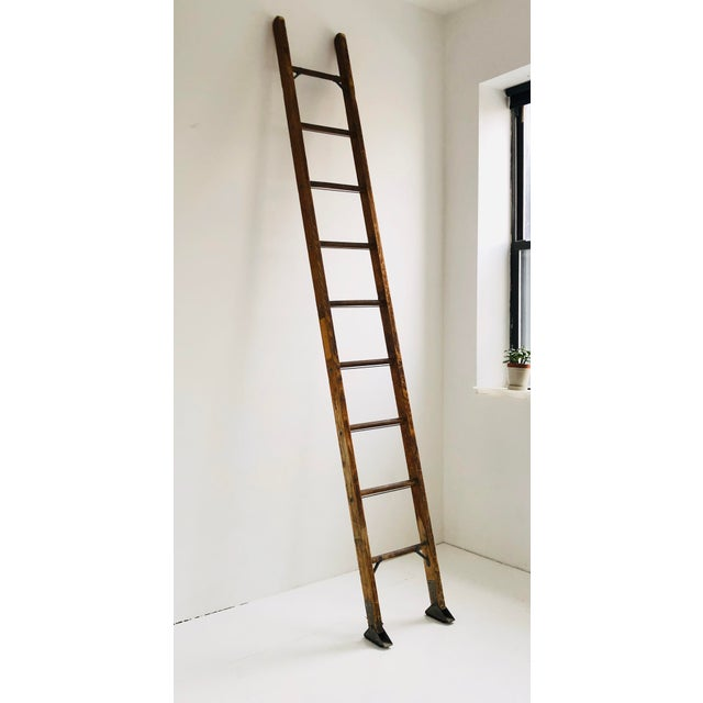 Vintage Mid-Century Working Ladder For Sale - Image 9 of 9