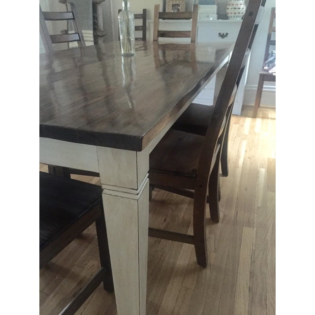 Antiqued Farmhouse Dining Table - Image 3 of 8