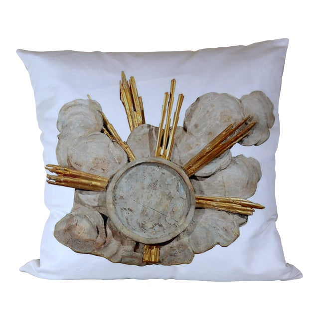 French Cathedral Altar Fragment Photo Pillow For Sale