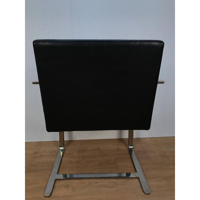 Pair of Knoll Chrome Plated Steel Brno Armchairs, With Leather Seats - Image 4 of 6