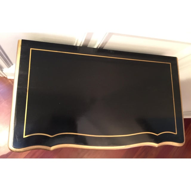 Empire 1960s Hollywood Regency Black Lacquer Chest For Sale - Image 3 of 11