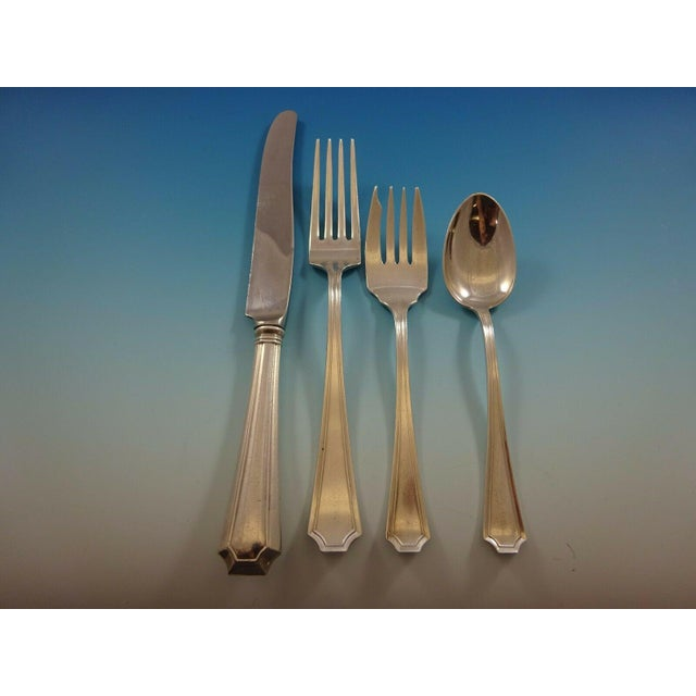 Early 20th Century Fairfax by Durgin-Gorham Sterling Silver Flatware Service for 6 Set 53 Pieces For Sale - Image 5 of 11