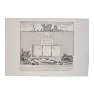 """Augustus Family Burial Rooms"" Piranesi Engraving"