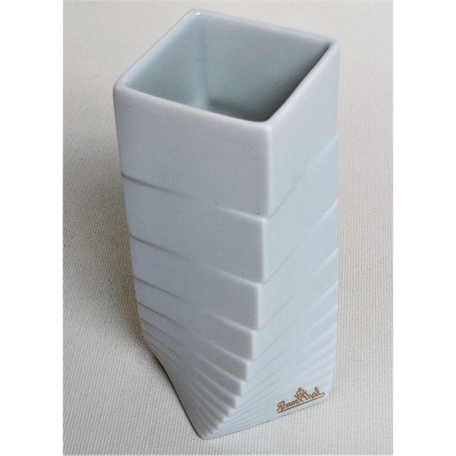 Ceramic 1970s Mid-Century Modern Hausler-Goltz for Rosenthal White Ceramic Vase For Sale - Image 7 of 11