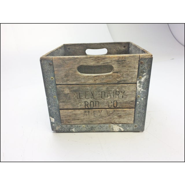 Vintage Wood Milk Crate From Alexandria Va Dairy