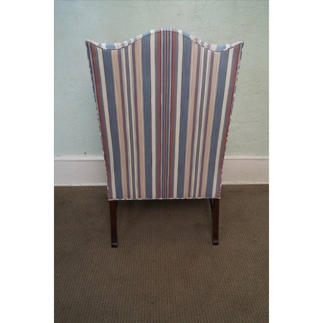 Hickory Chair Solid Mahogany Queen Anne Wing Chair - Image 4 of 10