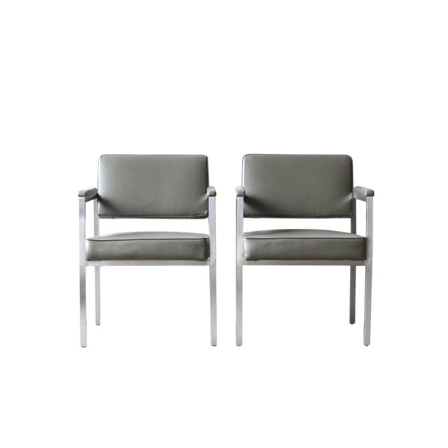 Peerless Chrome Sitting Chair - Pair - Image 1 of 4