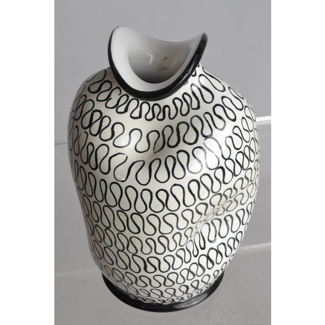 Italian Pottery Pinch Vase For Sale - Image 4 of 5