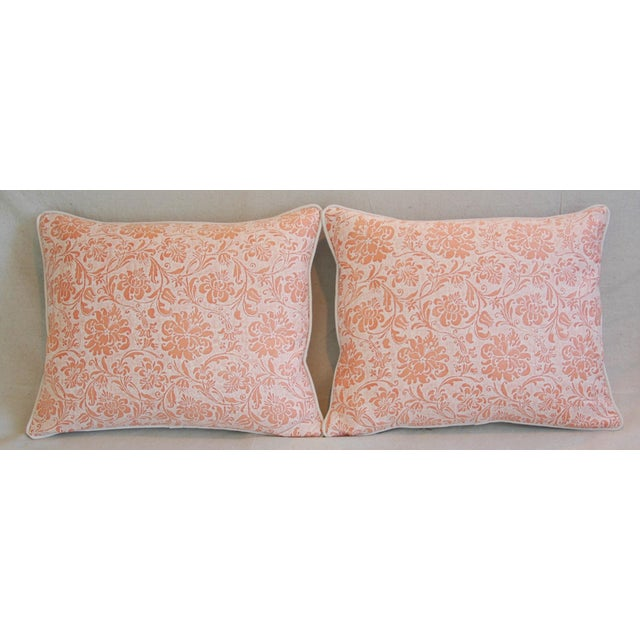 Abstract Designer Italian Fortuny Cimarosa Feather/Down Pillows - a Pair For Sale - Image 3 of 10