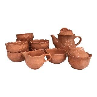 Vintage Pottery Block Molde Portugal 'Nasturtium' Dinnerware by Barbara Eigen - Set of 13 For Sale