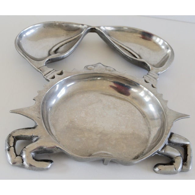 Metal Aluminum Crab Appetizer Plate For Sale - Image 7 of 7