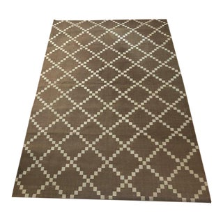 Madeline Weinrib Brown & Silver Rug - 6′ × 8′10″ For Sale