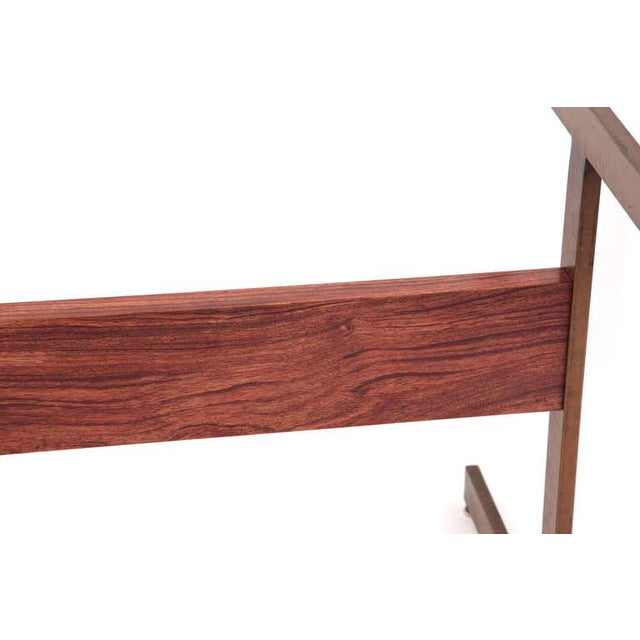 Mid-Century Modern Milo Baughman Bronze and Rosewood I Beam Dining Table For Sale - Image 3 of 6