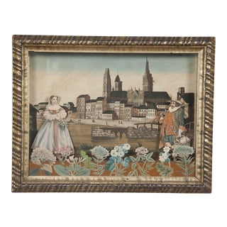 18th Century Louis XV French Diorama Painting For Sale