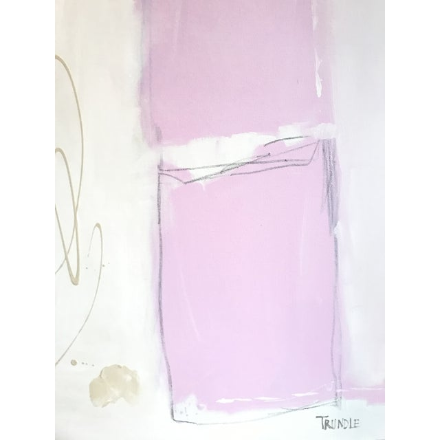 Contemporary Shapes in Pink Contemporary Painting For Sale - Image 3 of 7