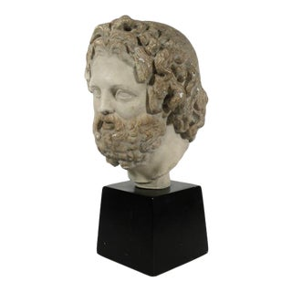 1960s Vintage Roman Classical Inspired Bust Sculpture For Sale