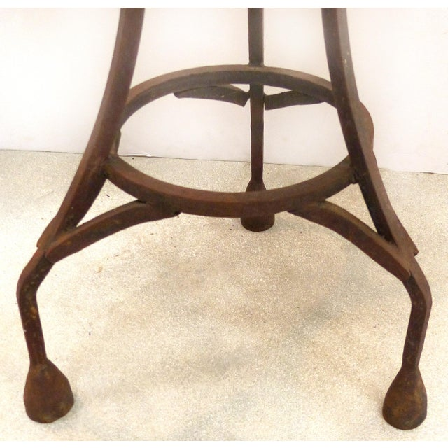 Mid 20th Century Wrought Iron Bistro Table W/ a Stone Top For Sale - Image 5 of 6