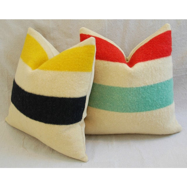 Multi-Striped Hudson's Bay Blanket Pillows - Pair - Image 7 of 11