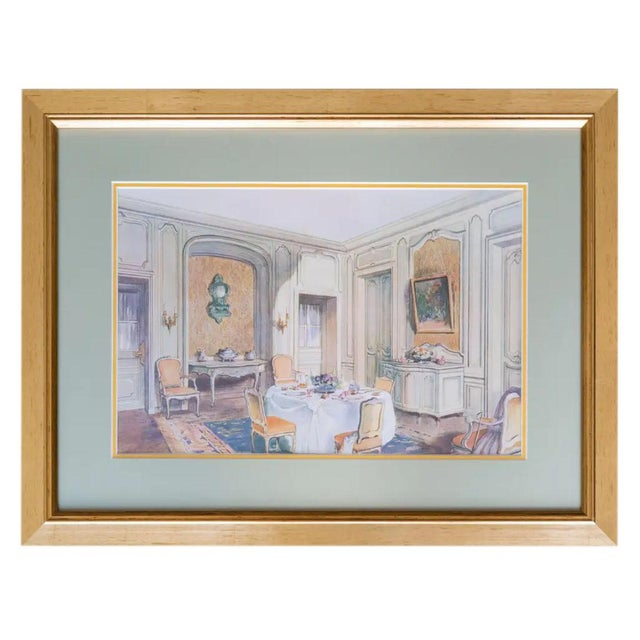 Antique French Interiors Decor Prints - Set of Six For Sale - Image 4 of 8
