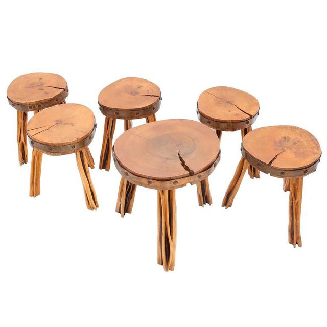 Copper Incredible Set of Stools For Sale - Image 7 of 7