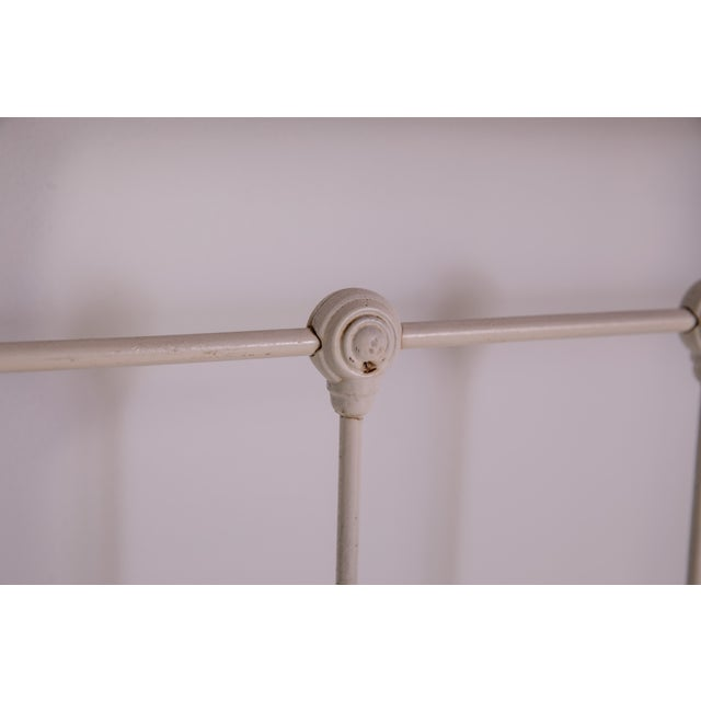 1910s Shabby Chic White Iron Victorian Bedframe For Sale In Greensboro - Image 6 of 12