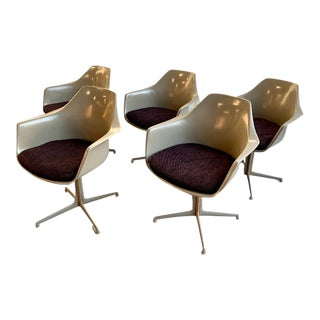 Mid-Century Modern Saarinen Style Dining Chairs by Burke, Set/5 For Sale