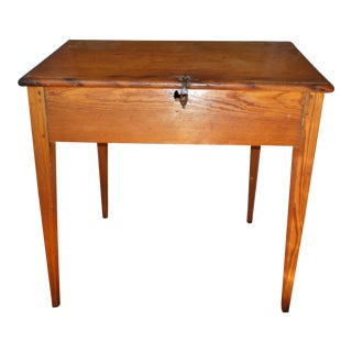 Antique Early American Primitive Southern Pine Slant Top Desk For Sale