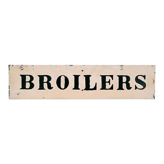 Vintage Broilers Chicken Sign For Sale