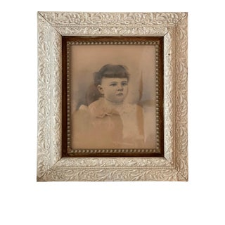 Early 20th Century Victorian Child's Portrait Photograph, Framed For Sale