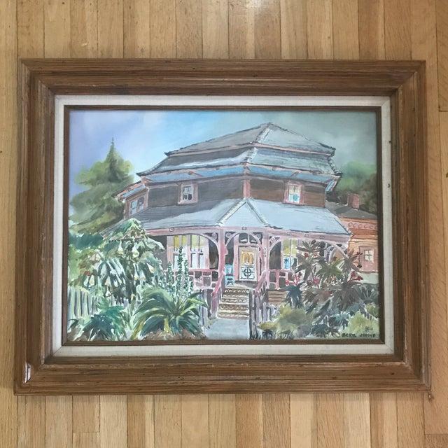 1980's Vintage Santa Cruz Watercolor Painting by Beryl Johns For Sale In San Francisco - Image 6 of 6