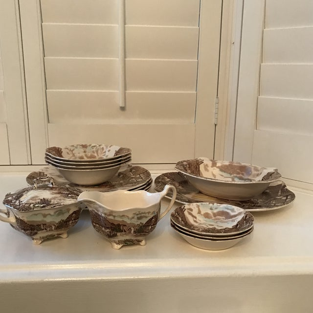 1960s Vintage Johnson Bros Olde English Countryside Serving Set - 17 Pieces For Sale - Image 13 of 13