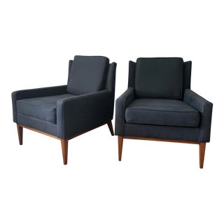 Mid Century Modern Paul McCobb Style Curved Back Lounge Chairs - a Pair For Sale