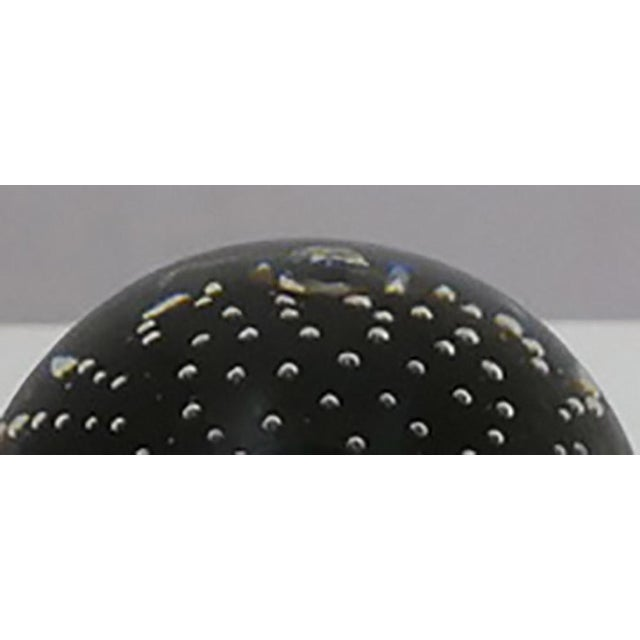 Mid-Century Modern Black Controlled Bubble Paperweight For Sale - Image 3 of 5