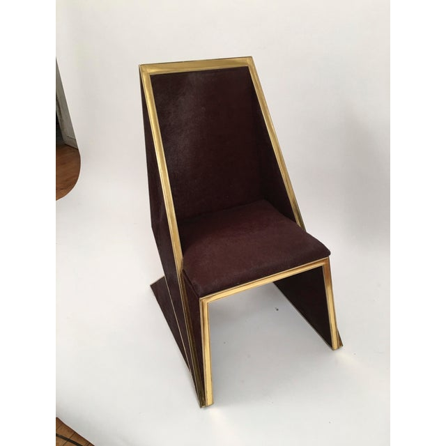 Two Toned Hide Dinning Chair by MarGian Studio For Sale - Image 10 of 11