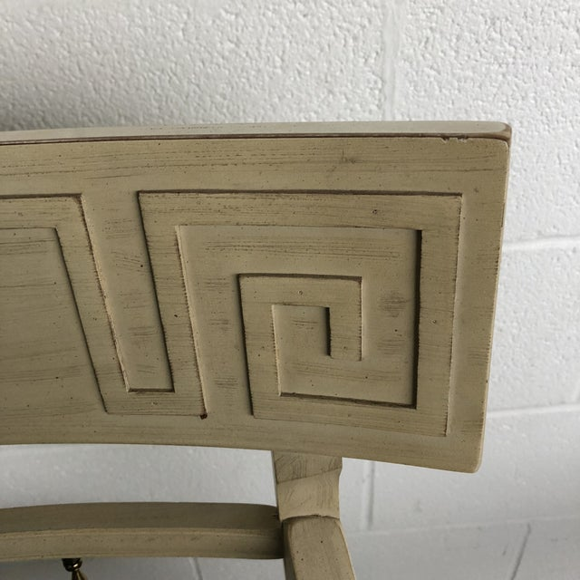 1960s Vintage Klismos Style Greek Key Dining Chairs- A Pair For Sale - Image 10 of 11