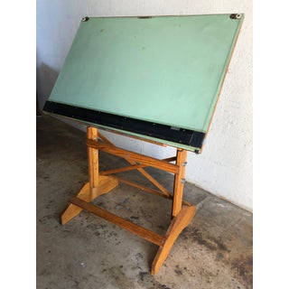 Vintage Anco Bilt Adjustable Industrial Drafting Table. Preview