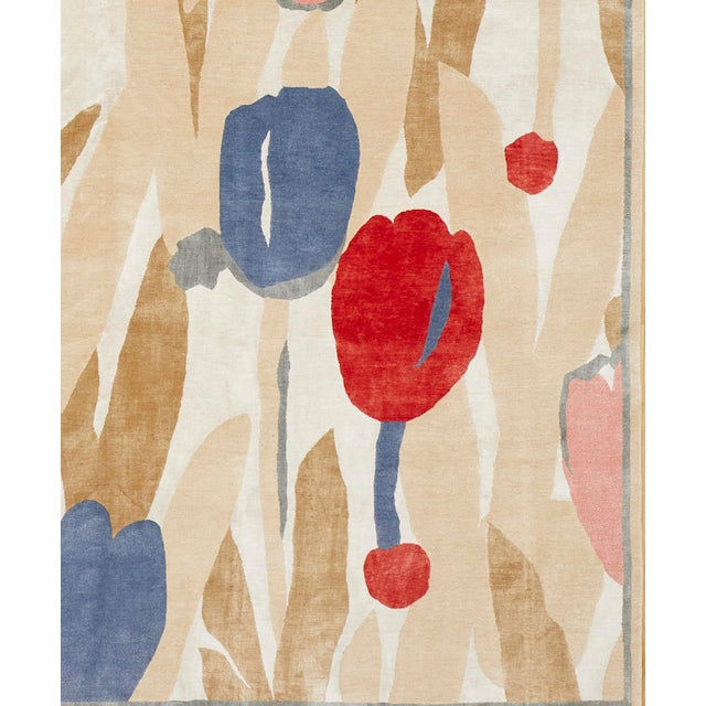 Contemporary Contemporary Schumacher Patterson Flynn Martin Promenade De Printemps Grande Hand Knotted Wool Silk Modern Rug - 9′ × 12′ For Sale - Image 3 of 5