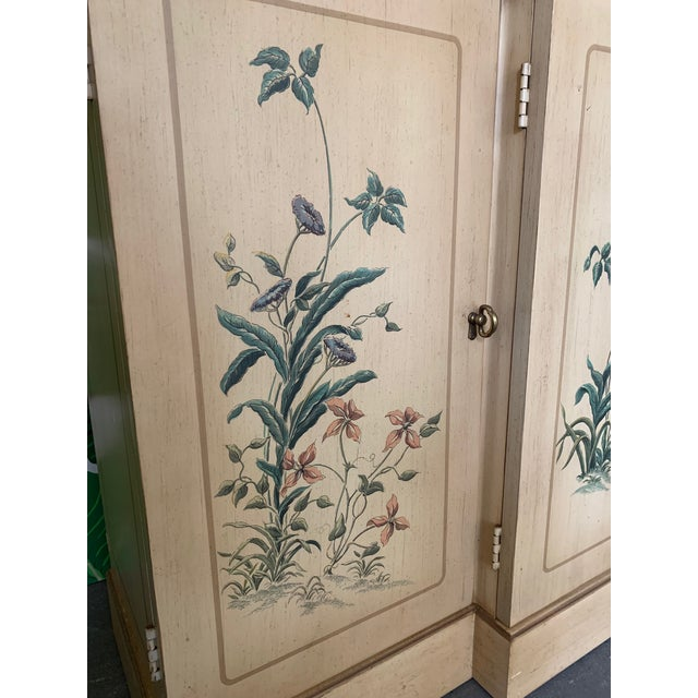 1980s Hand Painted China Cabinet by Drexel For Sale - Image 5 of 7