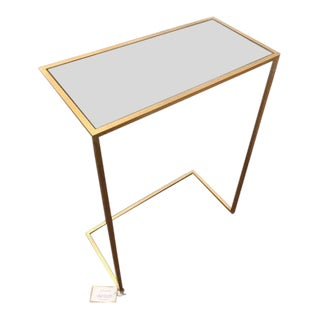 Mid-Century Modern Worlds Away Mirrored Side Cocktail Table For Sale