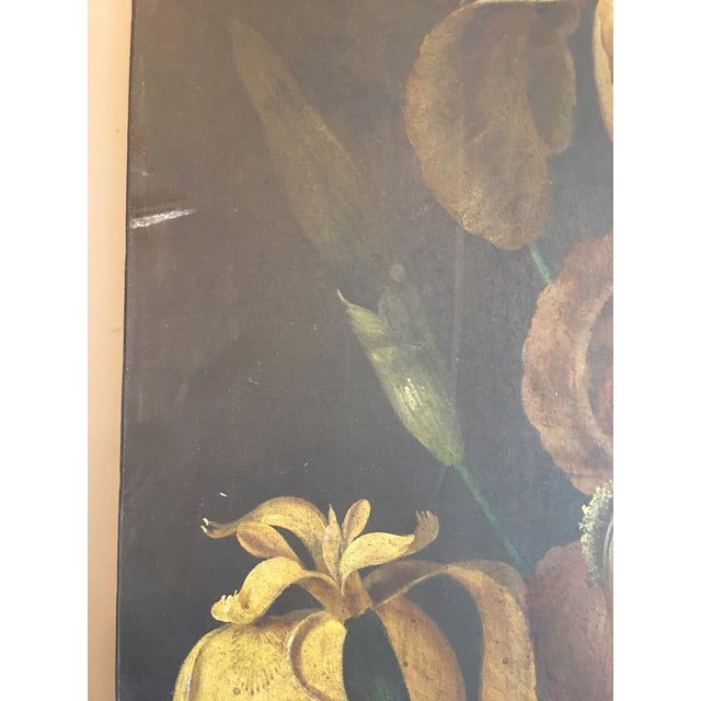 19th Century French Monumental Floral Paintings - a Pair For Sale - Image 6 of 7