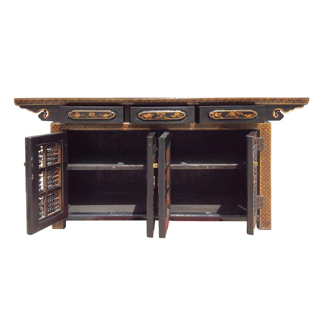 Dark Brown Rattan Top Abacus Accent Credenza - Image 5 of 6