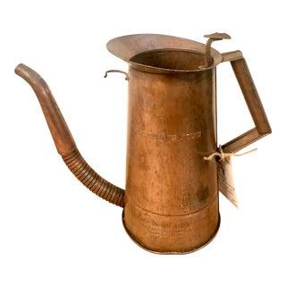 Vintage Copper Oil Dispenser With Spout For Sale