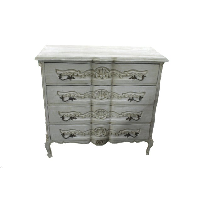 Oak 20th Century Vintage French Baroque Style Chest For Sale - Image 7 of 7