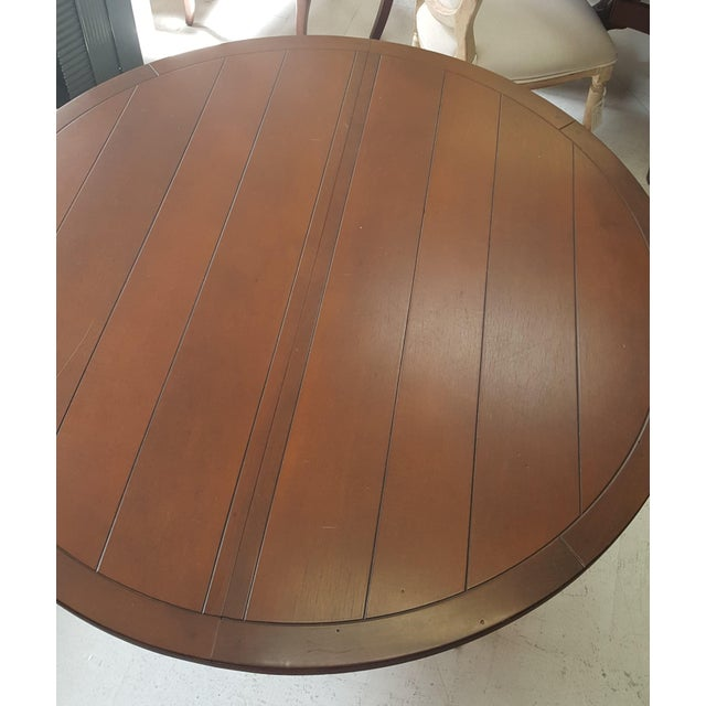 Creative Metal Round Table With Extra Leaf For Sale - Image 10 of 12