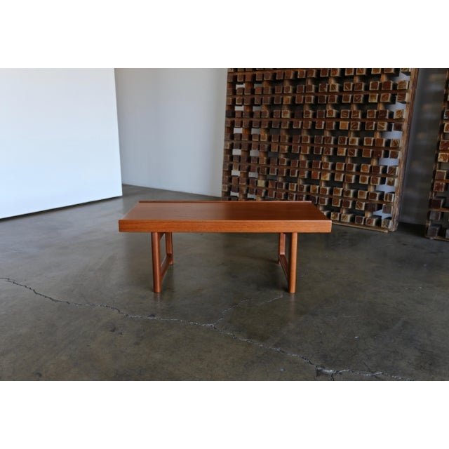 "Mid-Century Modern Torbjørn Afdal for Bruksbo Teak ""Krobo"" Bench For Sale - Image 3 of 10"