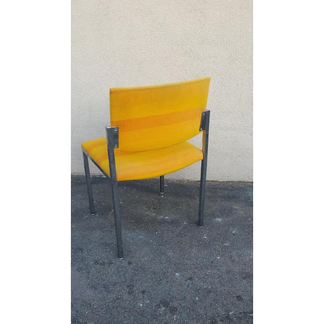 Steelcase Yellow Mid-Century Style Arm Chair - Image 4 of 5