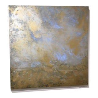 "Michelle Gagliano ""Rhosen"" Cloudscape Oil Glazes Painting on Wood Panel For Sale"