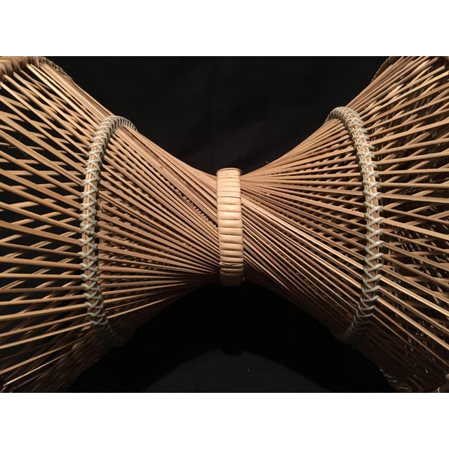 Rattan Rattan Wicker Plant Stand For Sale - Image 7 of 9